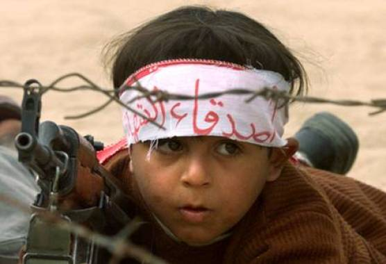 Palestinian Child Soldier! AP Photo/Charles Dharapak