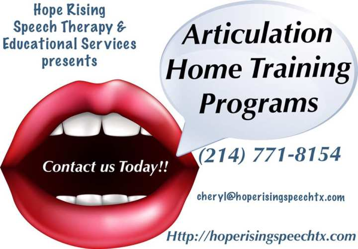 Articulation Therapy Home Program
