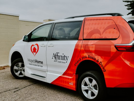 Affinity donation for accessible vans