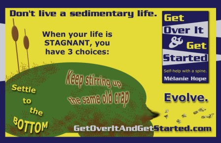 Self-help Infographic - don't live a sedimentary life!