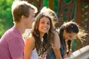 Adolescents outside