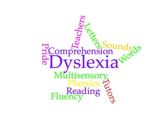 word-cloud dyslexia star