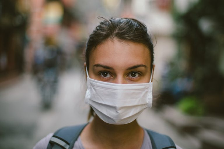 Wearing mask for coronavirus