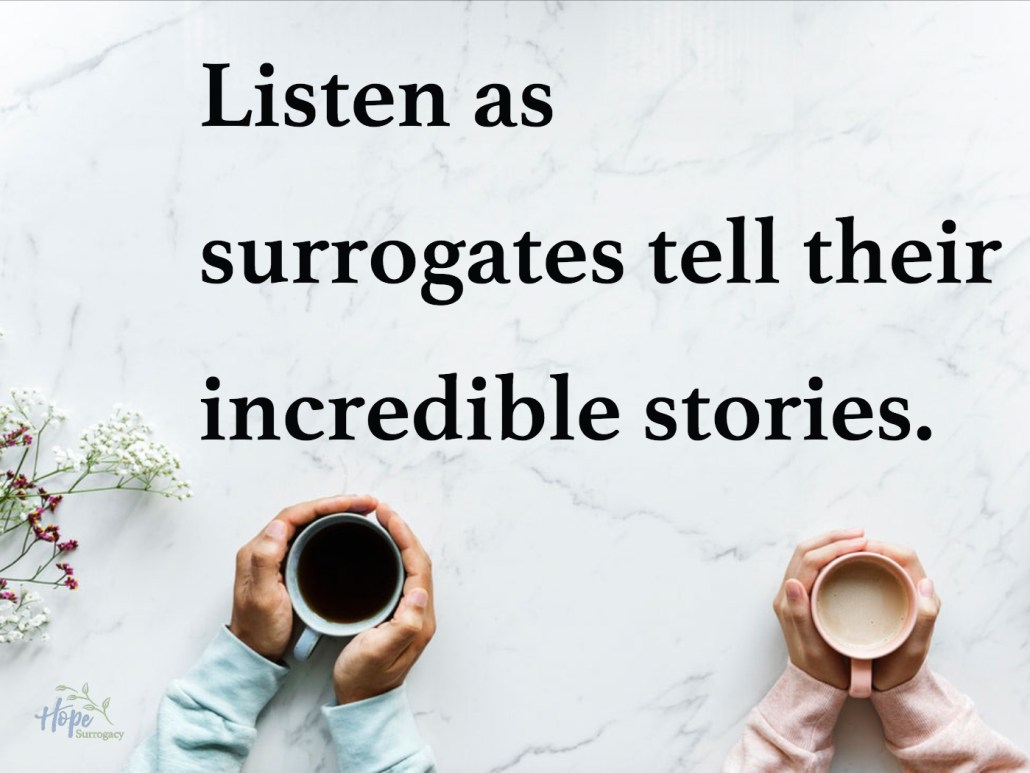 Our Podcast: Listen to surrogates share their stories!