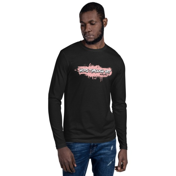 mens fitted long sleeve shirt black front 602ae47b0b19f