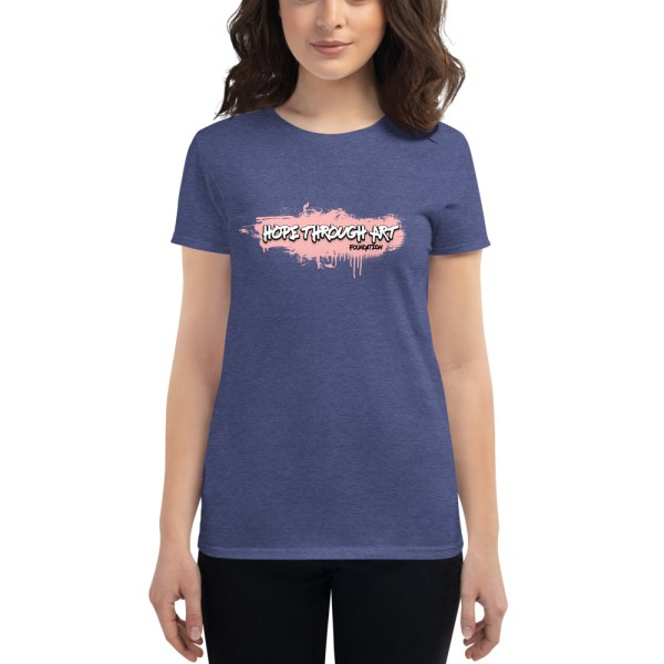 womens fashion fit t shirt heather blue front 602ae56a633b9