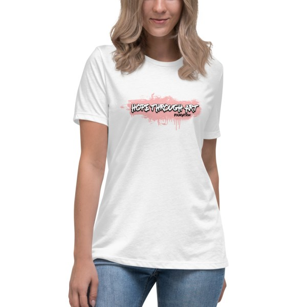 womens relaxed t shirt white front 602ae5b5b7675