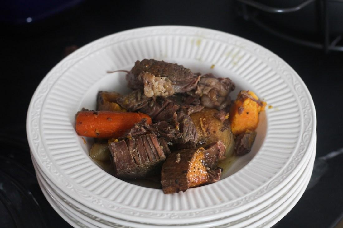 sweet potato pot roast recipe with red wine reduction
