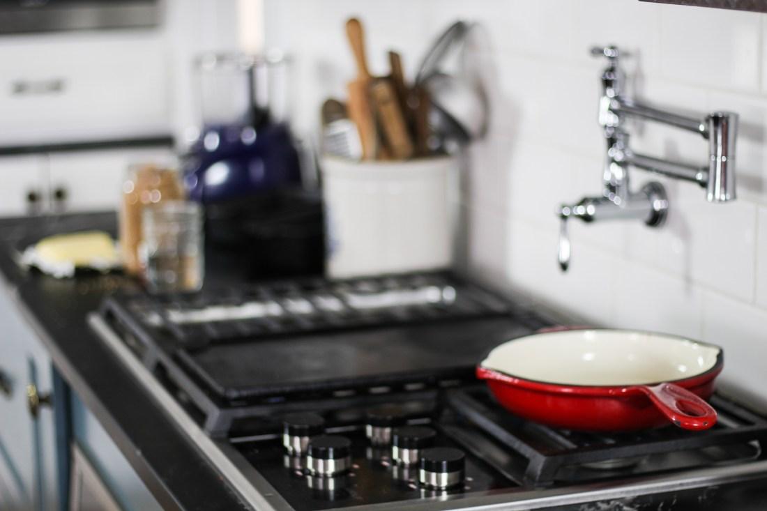 homestead kitchen cast iron skillet