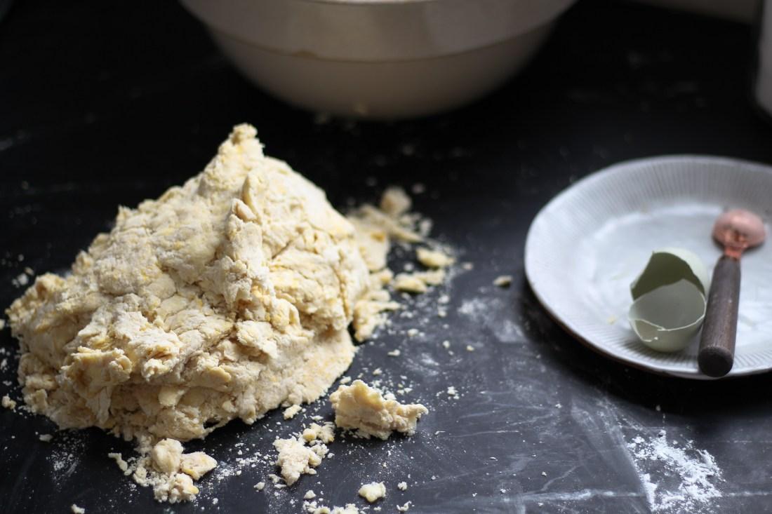 dough on counter