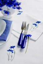 dekoracja stołu lato kwiaty polskie chabry obrusy serwetki12