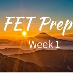 FET Prep Week 1: 3.5 months until FET