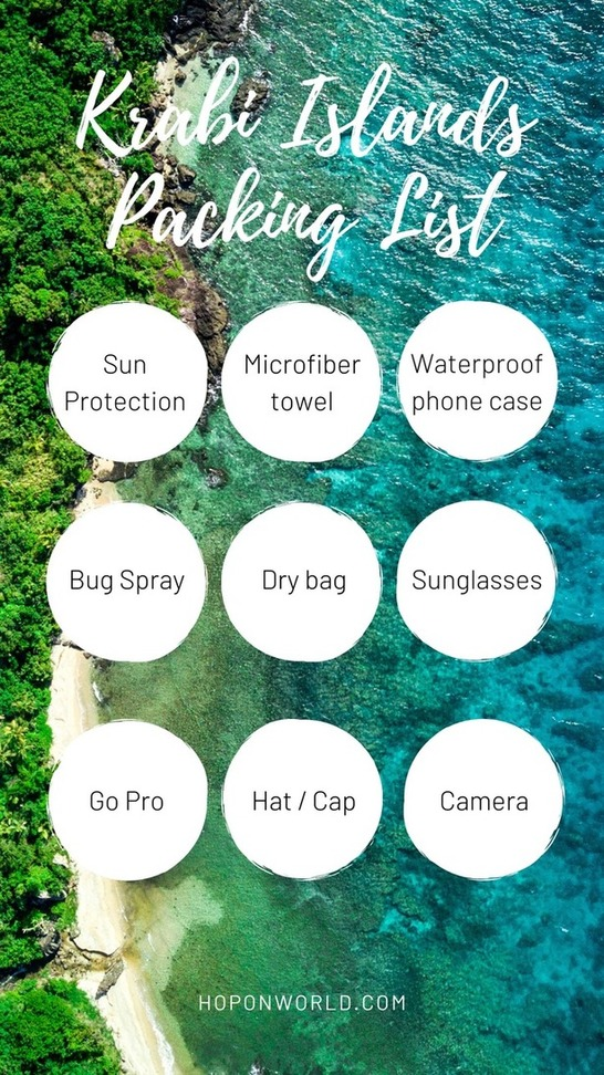 Find out what to pack for your Krabi island hopping trip here.  #krabi #islandhopping #packinglist #thailand