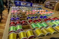 Spools and spools of colored thread