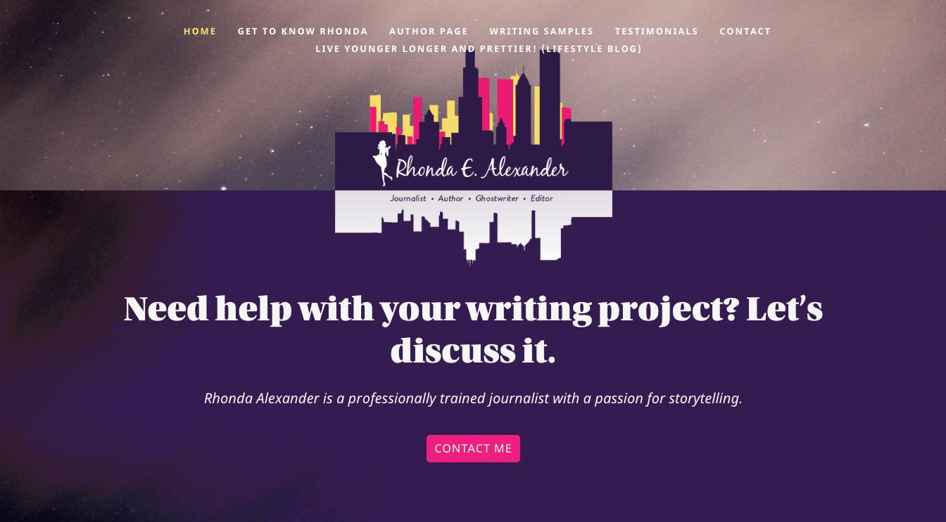 Hoppel Design website for Rhonda E. Alexander