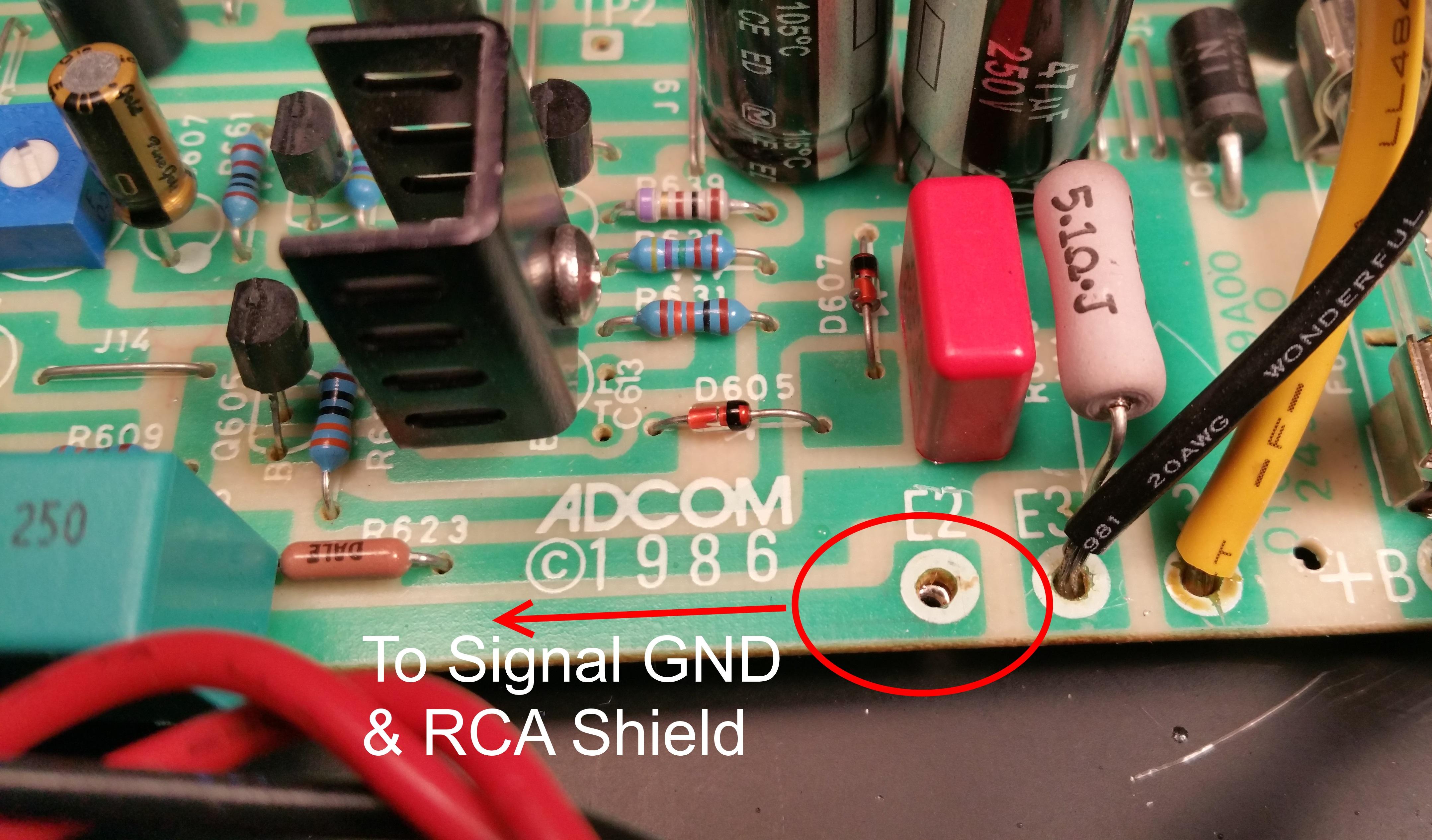 Killing the buzz in the Adcom GFA-535  New power supply