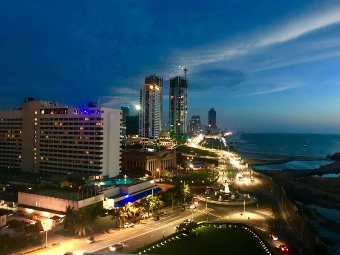 View of Colombo's skyline from Sky Lounge