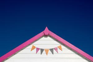 colorful house blue sky