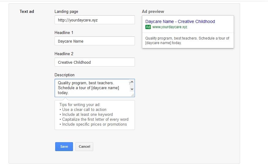Google AdWords PreSchool