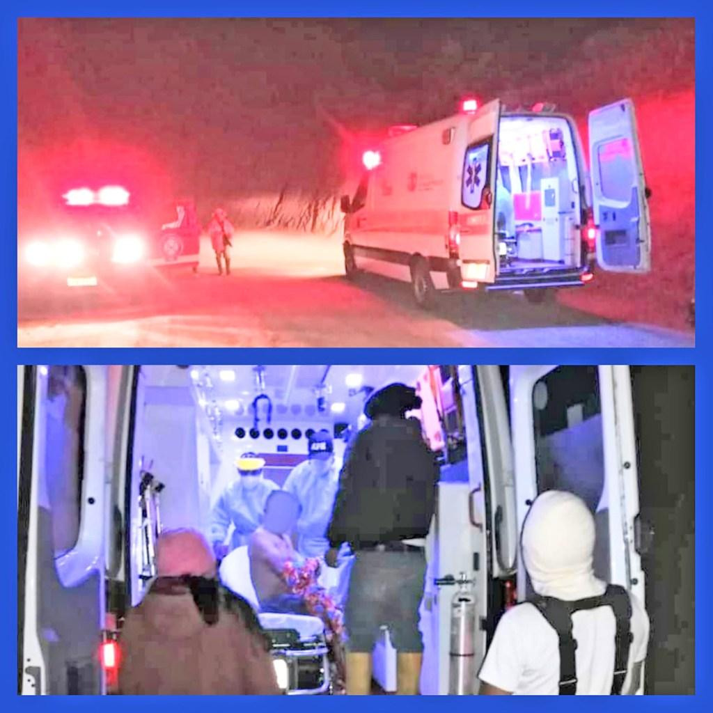 Los bomberos brindaron atención prehospitalaria a Víctor B. S.