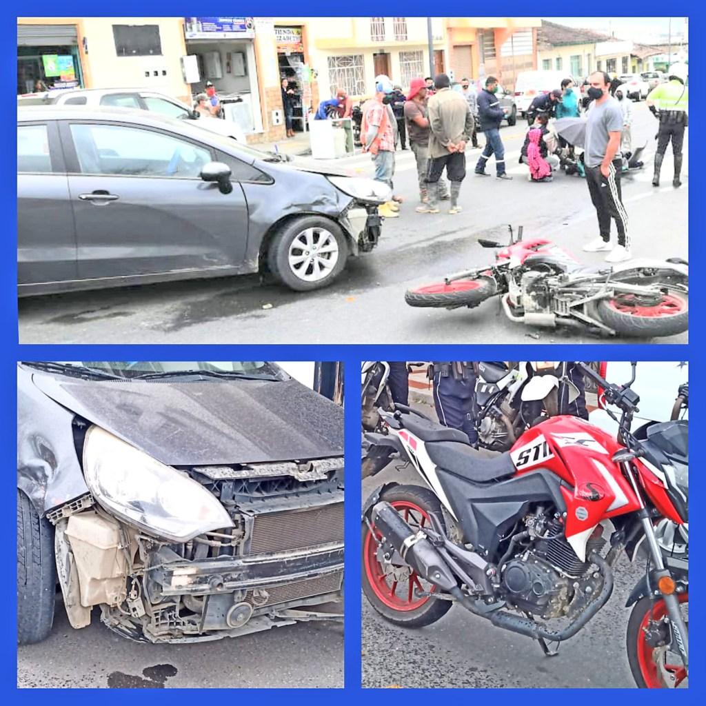 El accidente de tránsito ocurrió a eso de las 12:15.
