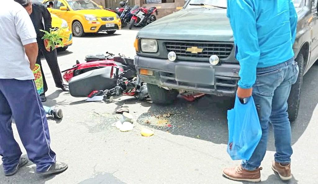 El motociclista fue dado de alta tras chequeo de paramédicos.