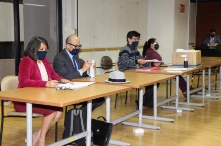 La audiencia se dio vía virtual. (Foto cortesía SR RADIO)