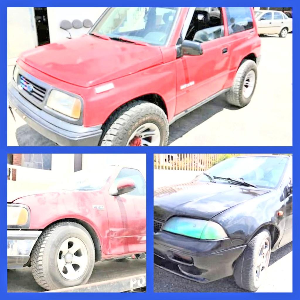 Los carros fueron llevados a los patios de retención vehicular de la Policía Judicial e Investigaciones.