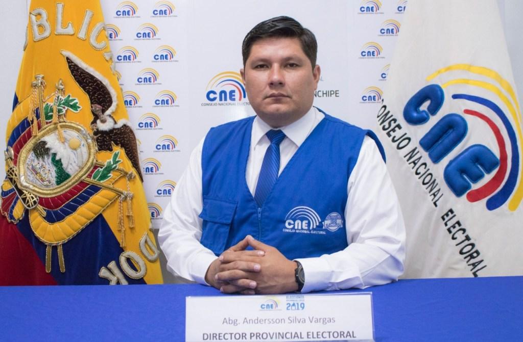Andersson Silva Vargas, director de la Delegación del CNE en Zamora Chinchipe.
