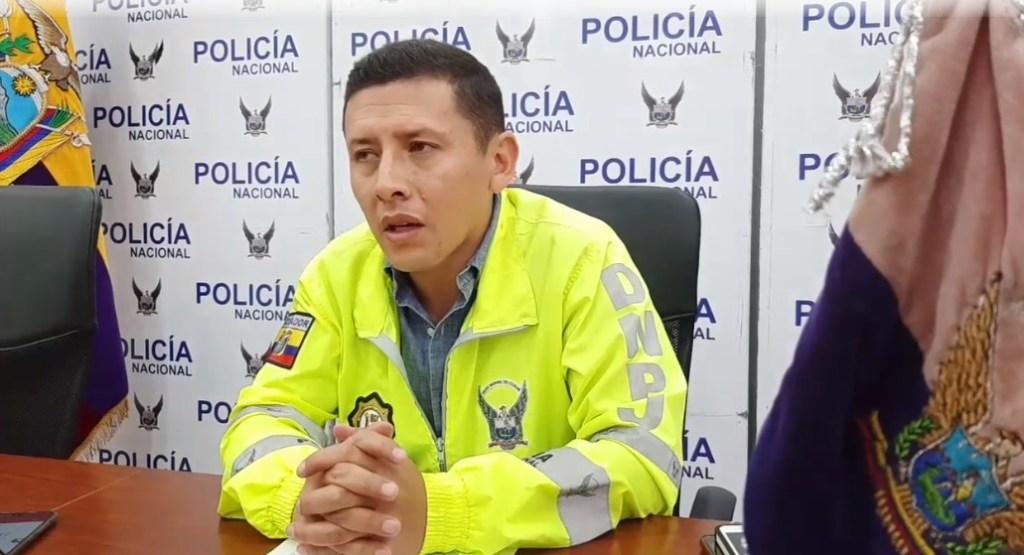 Juan Carlos Vasco, jefe de la Policía Judicial de Zamora Chinchipe, informó del asalto cometido en Zamora.