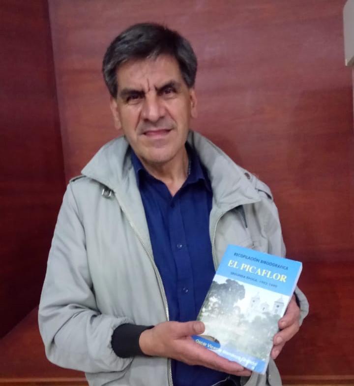 Oscar Mendoza Granda, también Miembro Correspondiente de la CCE-L, empleó un tiempo de seis meses en el trabajo de la obra.