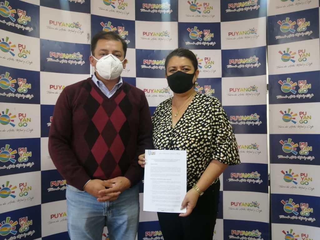 El acuerdo fue suscrito entre la AME y el Municipio de Puyango.