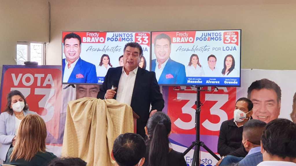 La propuesta fue difundida por el candidato mediante una rueda de prensa.