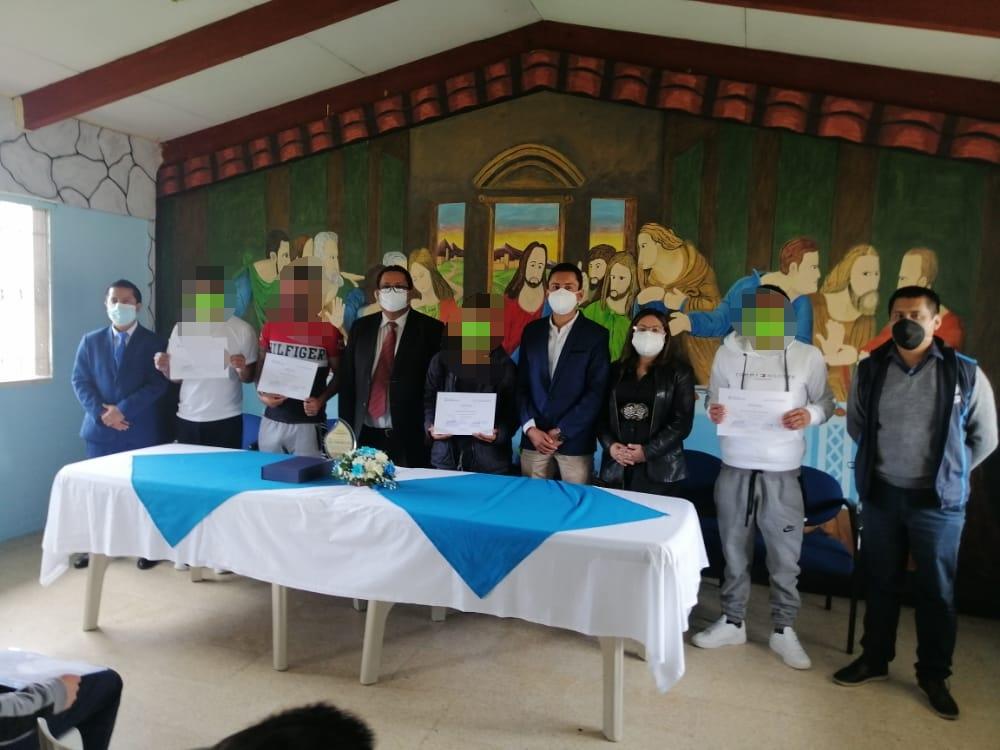 Hubo un acto especial de clausura que se desarrolló en las instalaciones del Centro de Adolescentes Infractores.