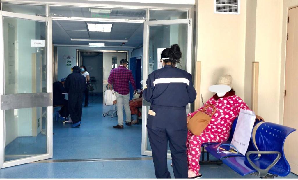 En el Hospital Isidro Ayora hay dos pisos para atención a pacientes Covid-19.