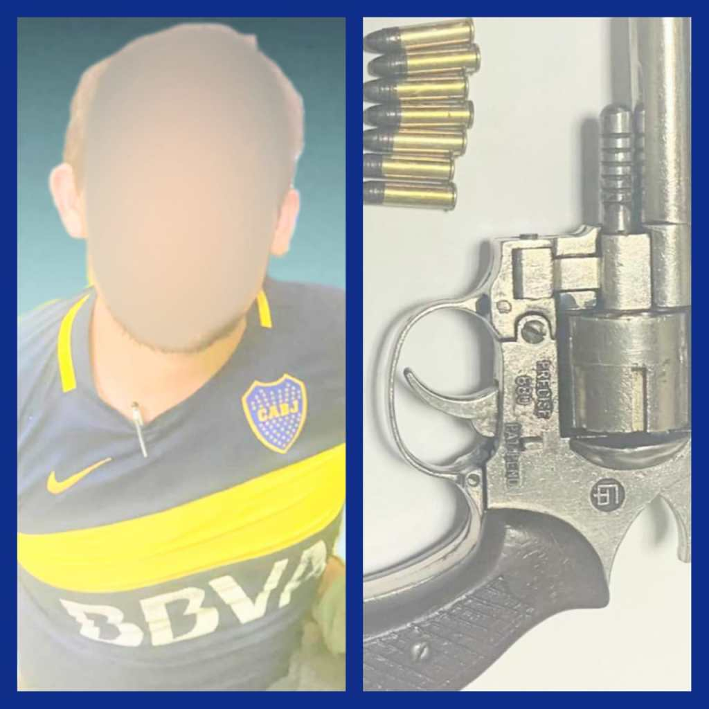 El revólver no está registrado.