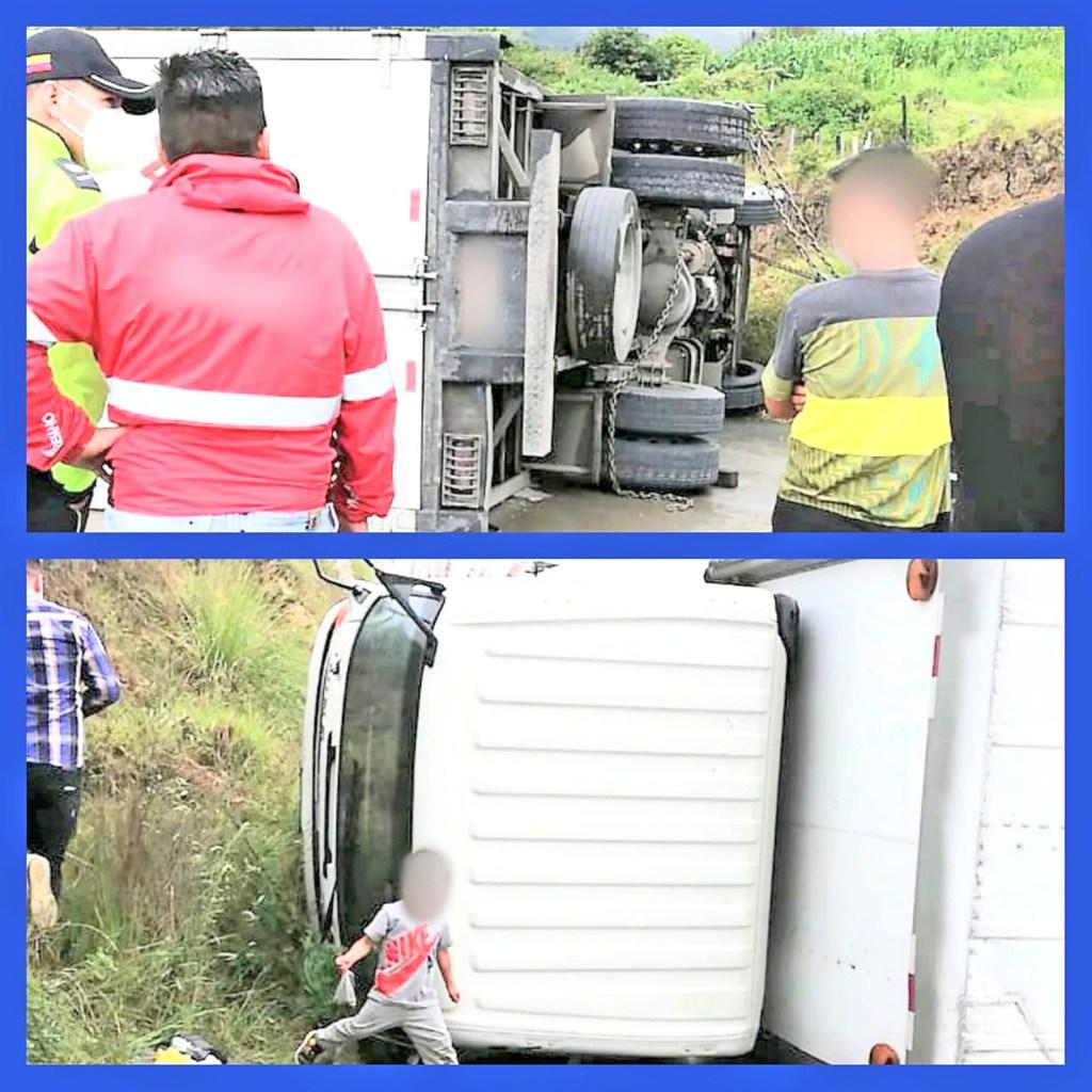 Los agentes civiles de la UCOT acudieron para establecer la causa que produjo el accidente.