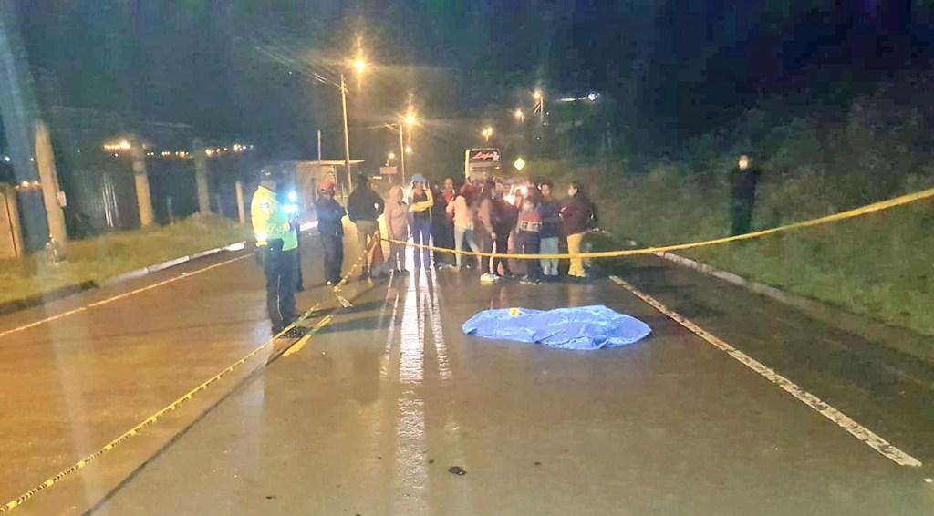 El accidente de tránsito sucedió la noche del último domingo.