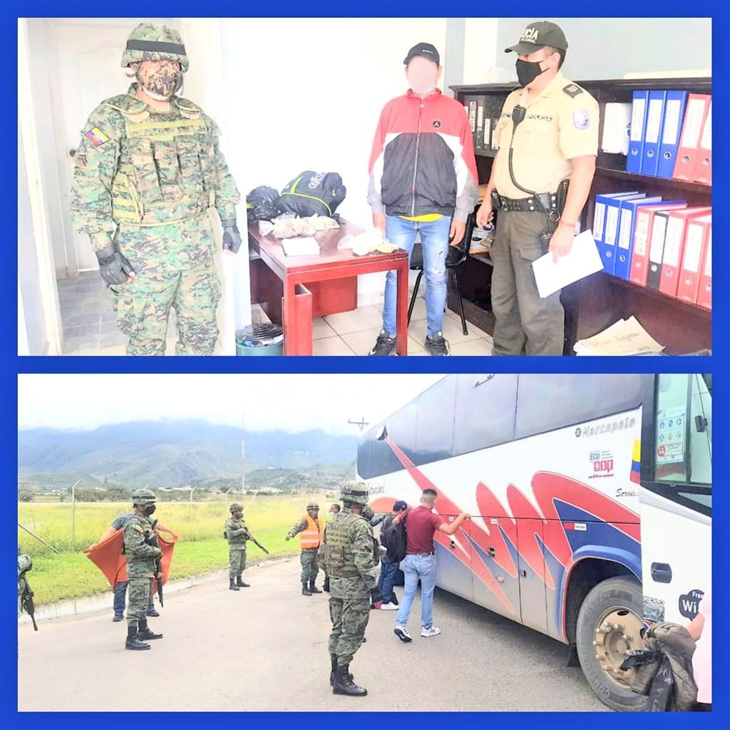 El operativo se ejecutó por la vía de acceso al aeropuerto de Catamayo.
