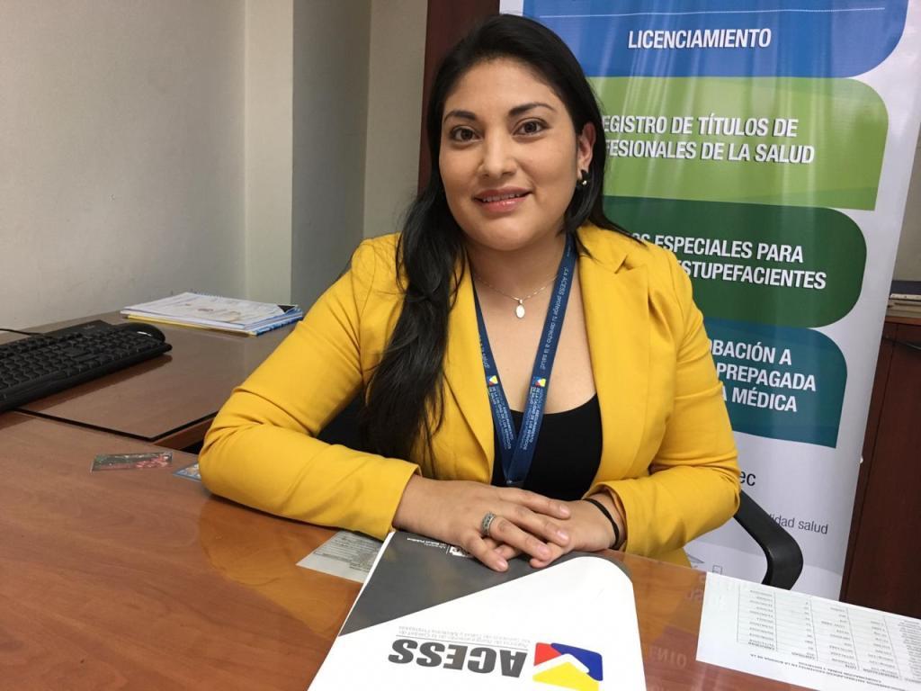 Mayra Viñán Montaño, delegada provincial en Loja de la Acess.