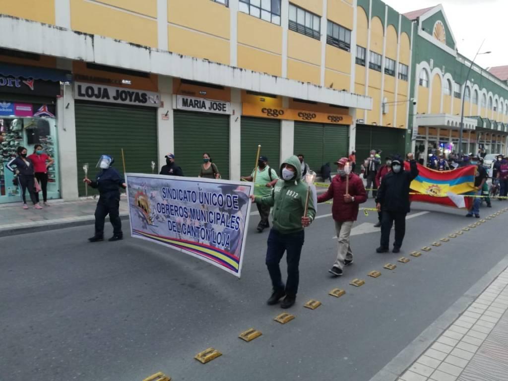 Los gremios de trabajadores lojanos, durante este Gobierno que está por fenecer funciones, han realizado diversas actividades para exigir el respeto a los derechos laborales.