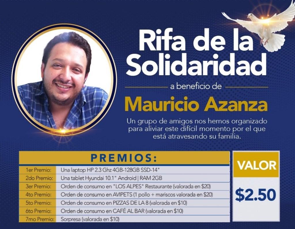 Mauricio Azanza lleva más de 40 días internado en una UCI, con pronóstico reservado.