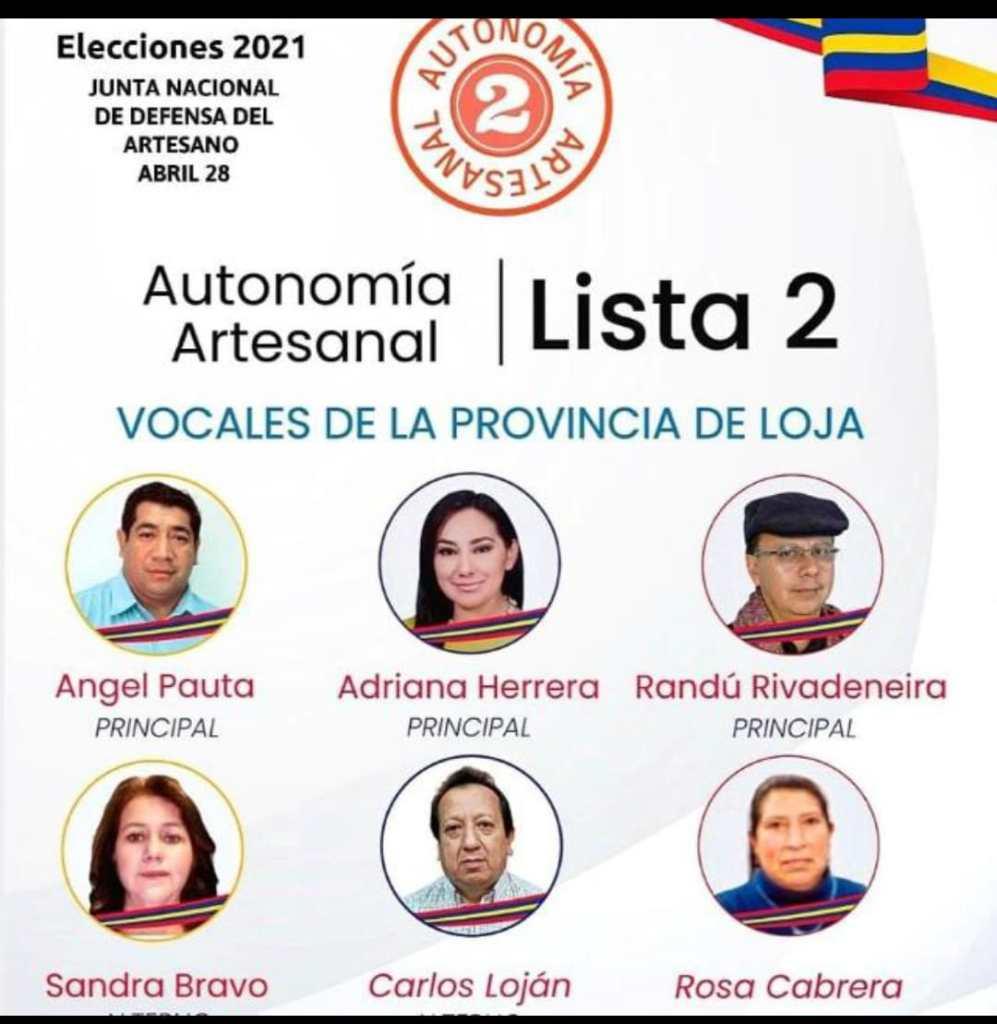 Ellos son los candidatos que aspiran dirigir el 'timón' de la Junta de Artesanos.
