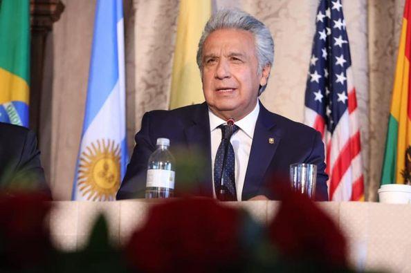 Lenín Moreno Garcés, presidente de la República del Ecuador.