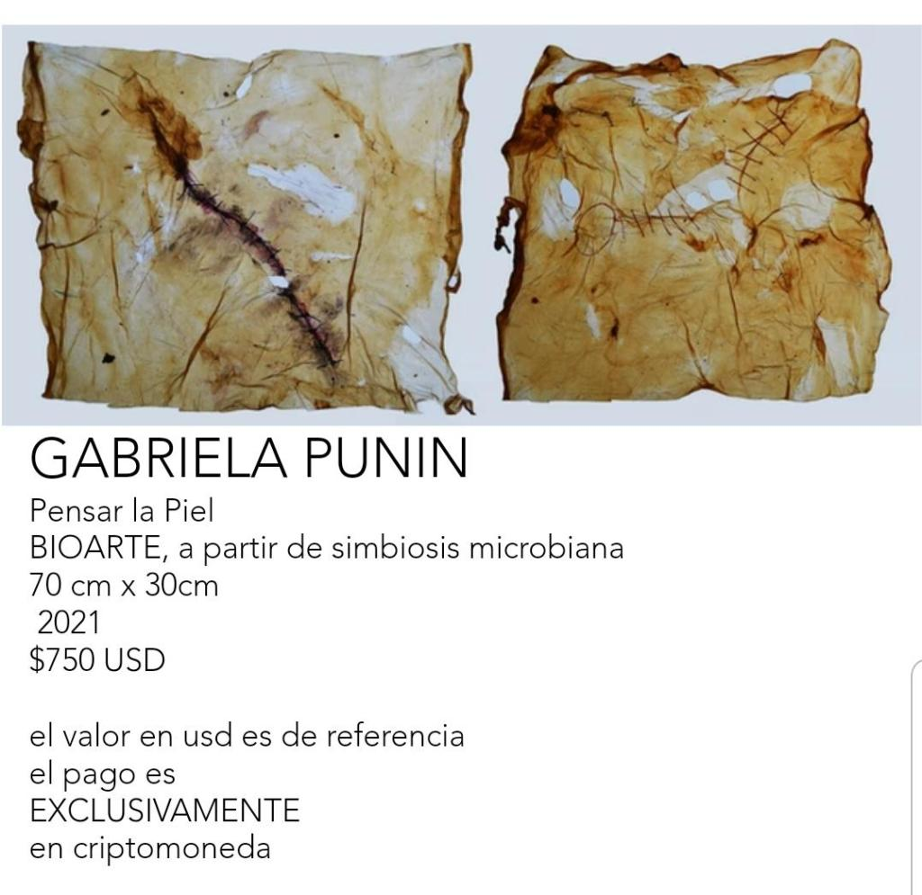Esta es la obra que exhibe la artista lojana, Gabriela Punín.