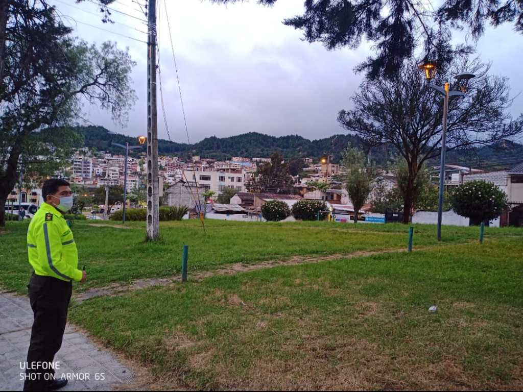 Francisco Mesías Hidalgo inspeccionó ese parque.