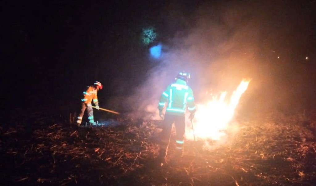 Se quemaron alrededor de 500 metros de caña.
