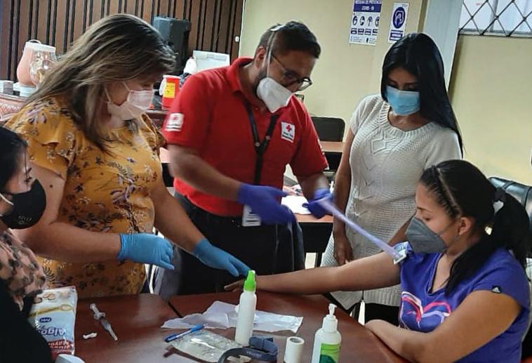 La capacitación es un eje fundamental en la Cruz Roja.