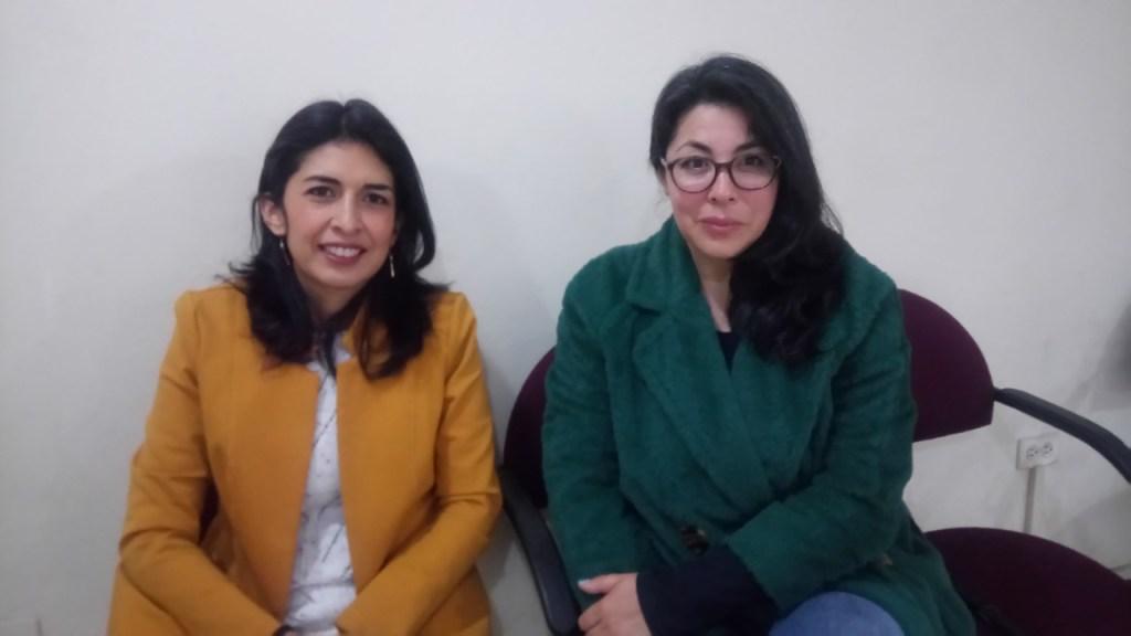 Ana Lucía Colala y Mónica Maldonado, candidatas al OCS por los docentes.