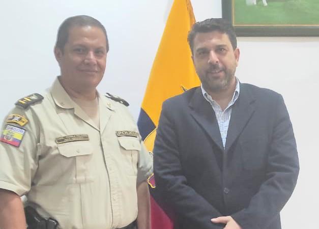 Juan Guerra Palacios visitó a Mario Mancino Valdivieso, ayer.